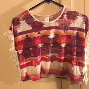Girls fringe top